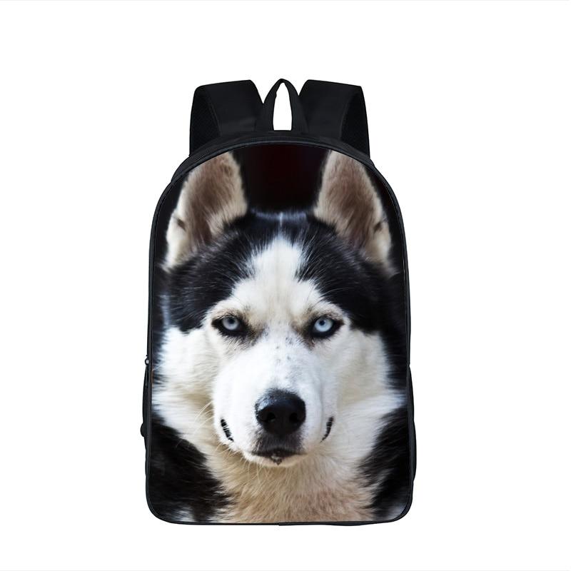 Dog Boxer Husky font b Backpack b font For Teenager Children School Bags Staffordshire Bull Terrier