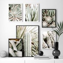 Green Plant tropic Cactus Agave Aloe Leaf Wall Art Canvas Painting Nordic Posters And Prints Pictures For Living Room Decor