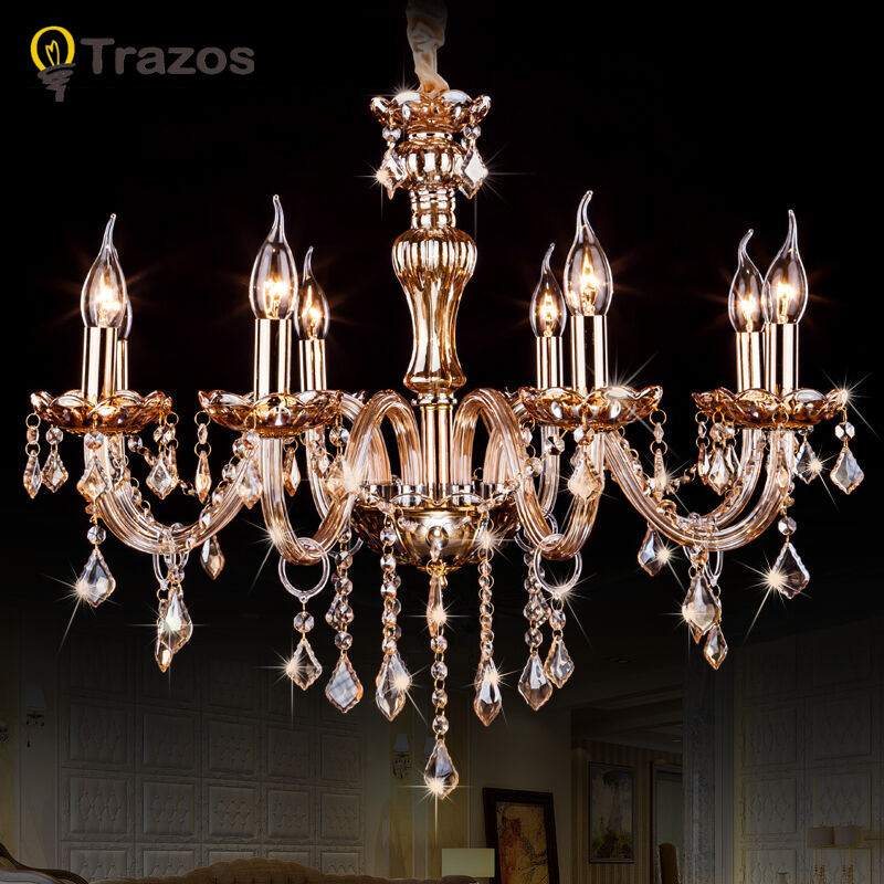 LED Crystal Pendant Lights Modern Lustres de Cristal Living Room Indoor Lamp Fixture Decoration lustre para sala modern holand tulip pendant lights fixture lustre home luminaire suspension pendant lamp dinning room kitchen lustres de sala