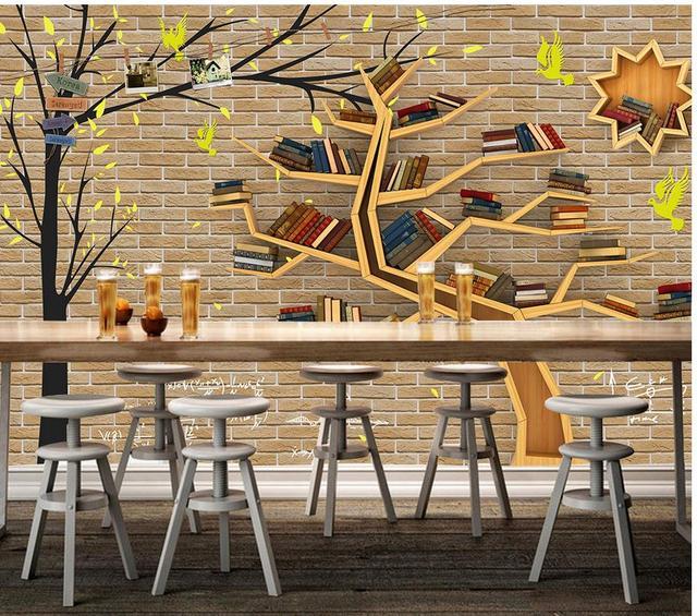 aliexpress : tapeten für wohnzimmer baum bücherregal 3d, Hause deko