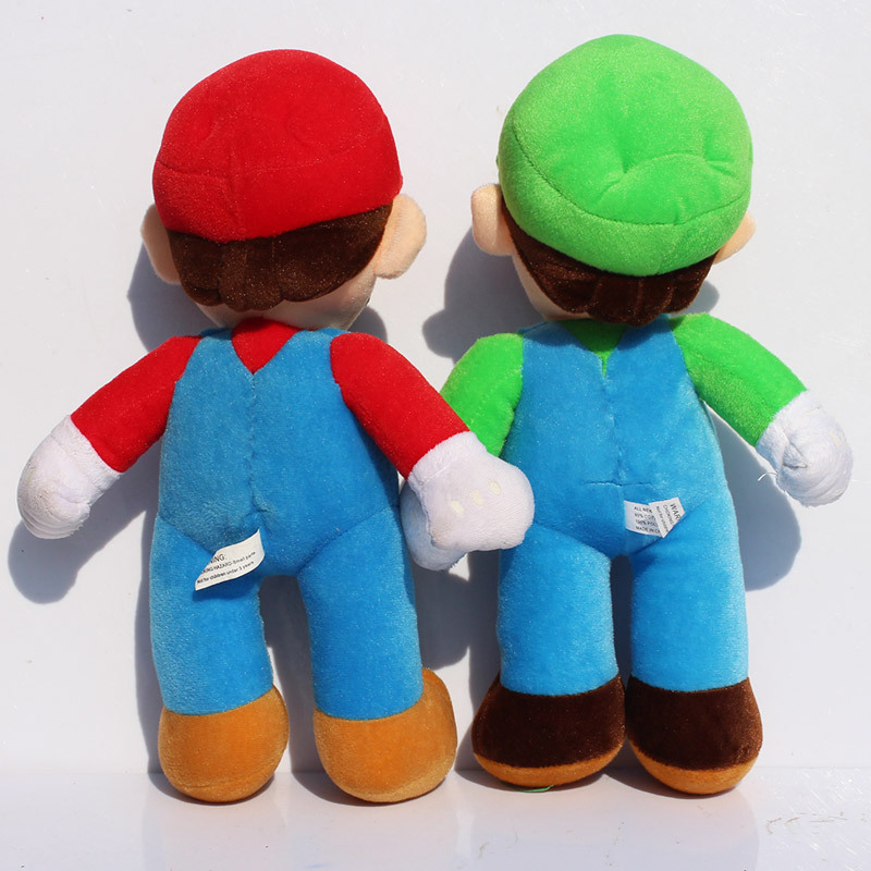 1pcs 10Inch Super Mario Bros Stand MARIO LUIGI Plush Doll Stuffed Toy Free Shipping New 1