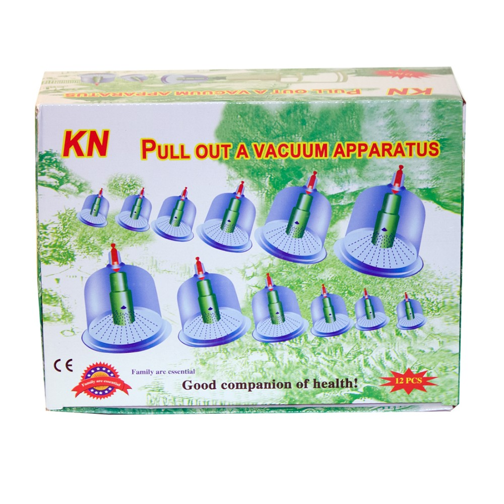 12 pcs/ Set Chinese Health care Medical Vacuum Body Cupping Set Portable Massage Therapy Kit body relaxation healthy Massage set(China (Mainland))