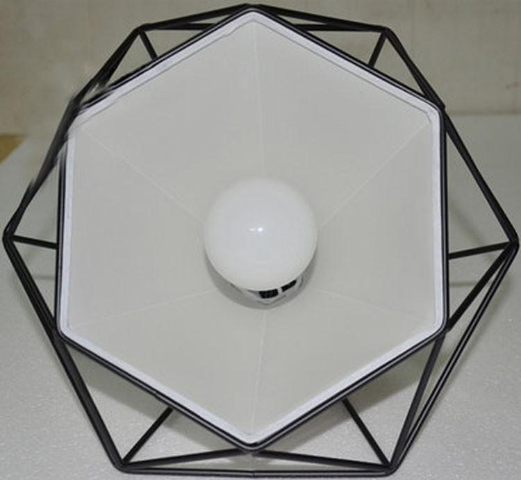birdcage chandeliers Scandinavian modern minimalist art pyramid iron chandelier creative restaurant lights