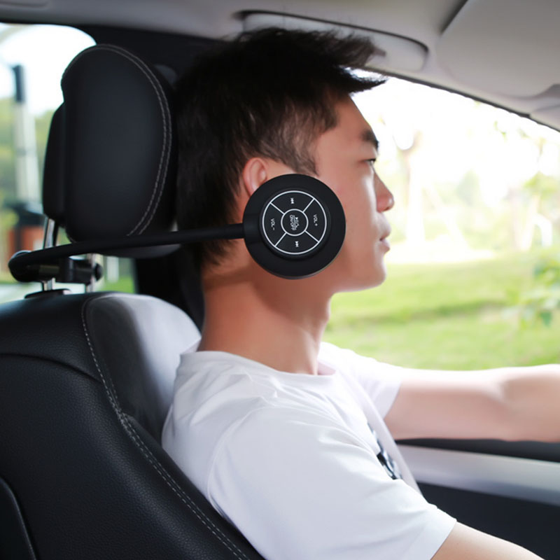 Car Backseat Wireless Bluetooth Headset HD Speaker Adjustable Headphone for iOS Android Phones 2019