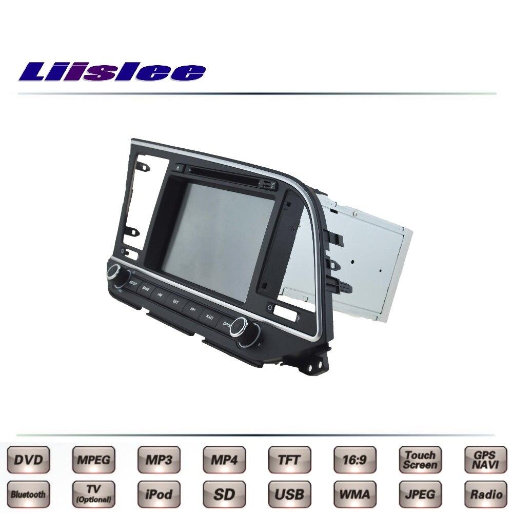 For Hyundai Elantra AD 2015 2016 2017 Car Multimedia TV DVD GPS Radio Original Style Navigation Liislee Advanced Navi