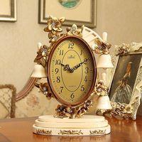 European Clock Mute Living Room Bedside Table Clock Retro Bell Decoration Creative Ornaments Desk & Table Clocks