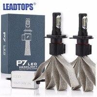 Leadtops سيارة h1 h3 h7 h4 h13 h8 h11 المصابيح الأمامية 9005 hb4 9006 9007 60 واط 6000 كيلو لمبة السيارات السيارات جبهة أمامية إد
