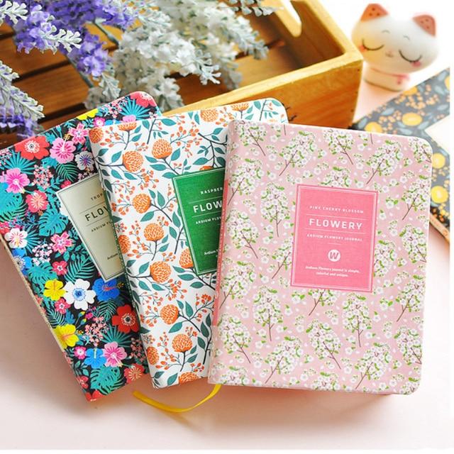 Creative pu cuero flor floral horario libro diario semanal ...