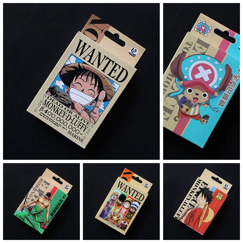 54pcs Anime One Piece Luffy Cosplay Poker Cards Playing Cards Entertainment Gift