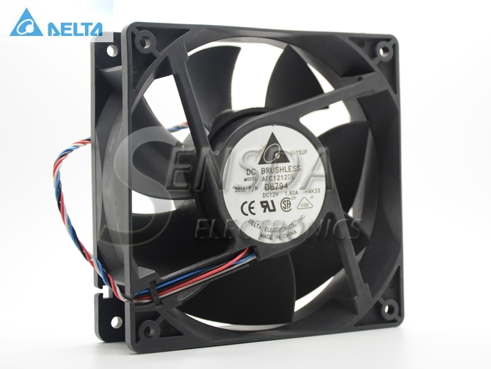 original Delta AFC1212DE Y4574 12CM 1238  12038 120*120*38MM 12*12*3.8CM 12V 1.60A Server Inverter Cooling fan computer water cooling fan delta pfc1212de 12038 12v 3a 12cm strong breeze big air volume violent fan