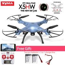 Original Syma X5HW FPV RC Quadcopter Drone Con Cámara de WIFI 2.4G 6-Axis Actualiza RC Helicóptero Juguetes de Presión Alta Modo