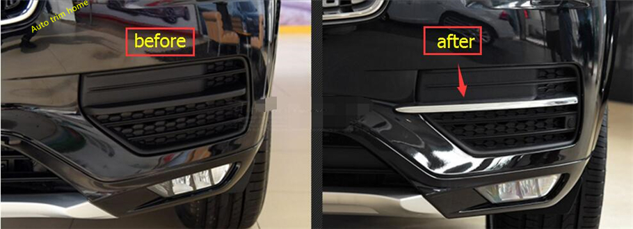 For Volvo XC90 2016 2017 2018 ABS Front / Rear Fog Light Lamp Cover Trim for volvo xc60 abs chrome front