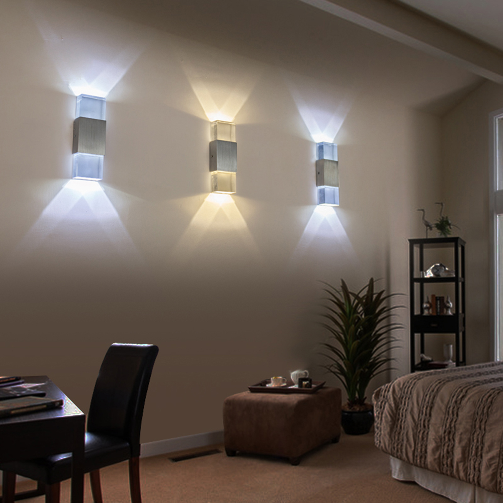 down lighting wall sconce. aliexpress.com : buy tanbaby acrylic led wall lamp 2w up and down sconce light indoor hallway walkway bedroom corridor decoration ac85 265v from lighting o