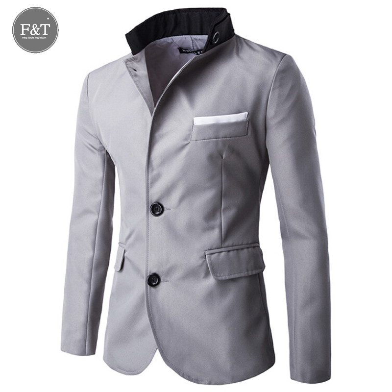 Fashion Classic Brand Business Blazer Men Trend Slim Fit Two Buttons England Masculino Men Blazers Slim