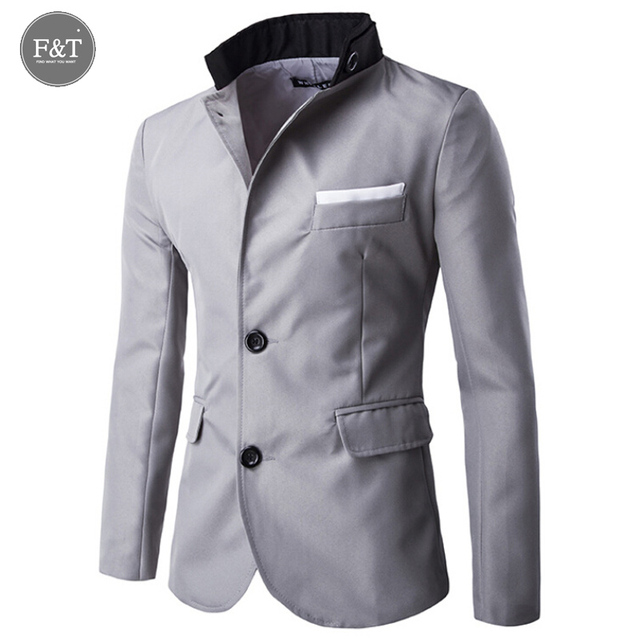 Fashion Classic Brand Business Blazer Men Trend Slim Fit Two Buttons England Masculino Men Blazers Slim Fit Men Suit Jackets