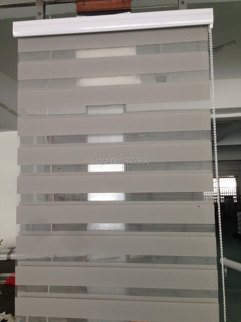 Aliexpress Com Buy Free Shipping Popular Zebra Blinds Double Layer Roller Blinds For Room Window Customized Size From Reliable Roller Blinds Suppliers On