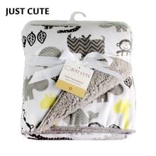 Детские Одеяло s ; новое теплое двойное Слои из кораллового флиса младенческой конверт коляска Обёрточная бумага для новорожденных Детское постельное белье Одеяло