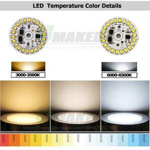 Image 4 - Светодиодная плата 220 В 7 Вт Dia35mm SMD2835 630lm, светодиодный модуль, алюминиевая лампа с интеллектуальной платой IC, драйвер, лампочка, панель, Dowlight источник теплого/белого света
