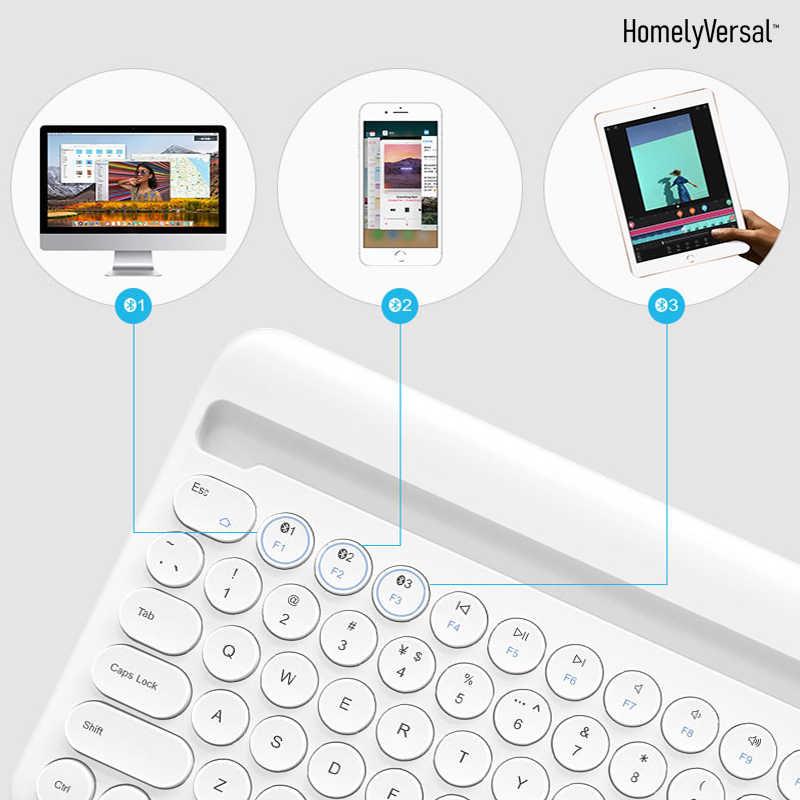 高品質スリム Bluetooth キーボードミュートタブレットやスマートフォンホームワイヤレスキーボードスタイル Ios のアンドロイド Windows の