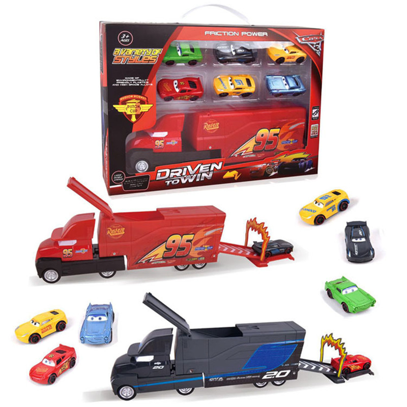 Pixar Cars 3 Toys Lightning Mcqueen Jackson Storm Mack Uncle Truck