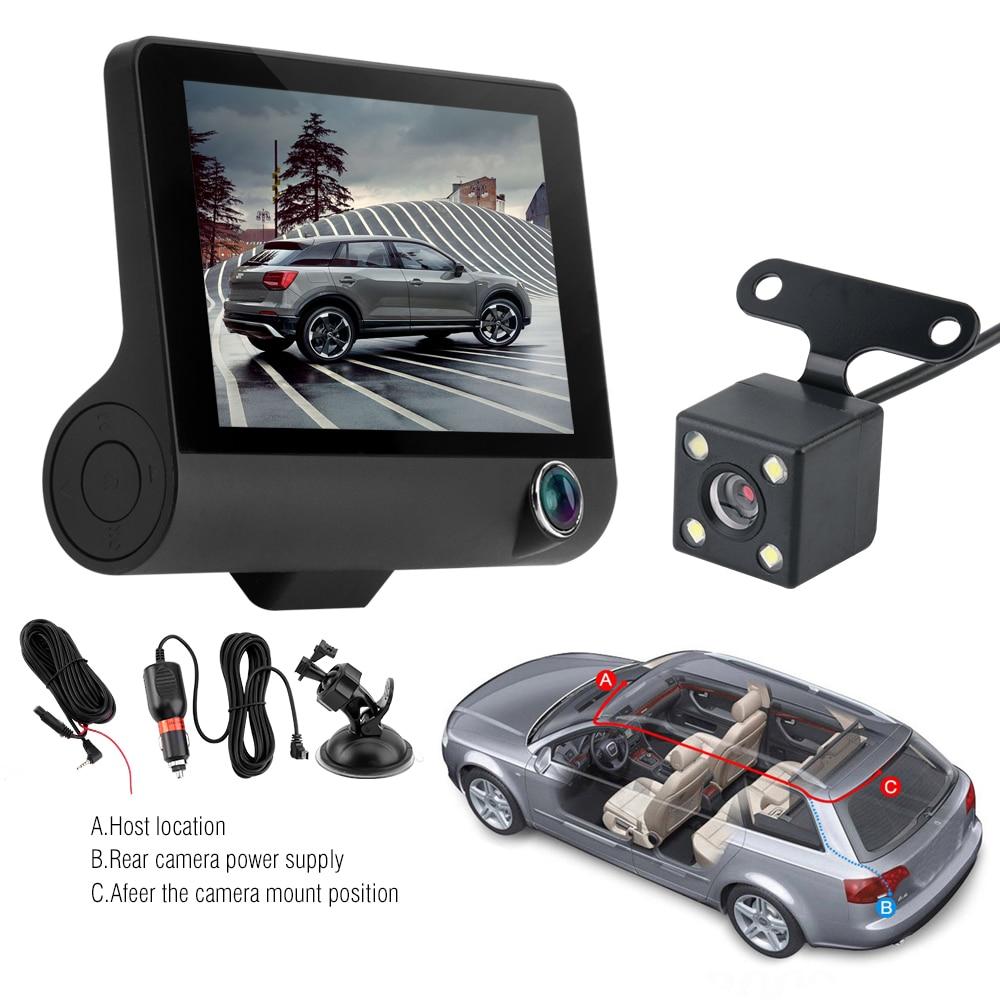 Image 5 - Автомобильный видеорегистратор, видеорегистратор Full HD 1080 P, 4,0 дюймов, три камеры, ips экран, автомобильная камера, видеорегистратор для вождения, автомобильные аксессуары-in Видеорегистратор from Автомобили и мотоциклы on AliExpress - 11.11_Double 11_Singles' Day