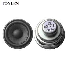 TONLEN 2Pcs 2 inch Full Range Speaker 5 W 4 ohm DIY Portable Bluetooth Speaker Mini Music Speaker 40mm HiFi Rubber Side Speakers remax rb m6 portable hifi bluetooth 4 1 speaker