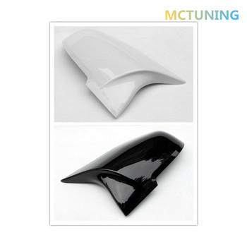 For 1 2 3 4 Series F20 F22 F30 F35 F32 F34 Look ABS Material Rear View Mirror Cover & Gloss Black/White 2012-2016