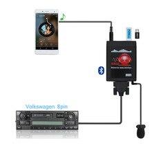 Moonet Bluetooth מתאם רכב MP3 USB/AUX 3.5mm סטריאו אוטומטי דיבורי אלחוטי מתאם עבור פולקסווגן 8Pin חיפושית פאסאט סקודה מושב
