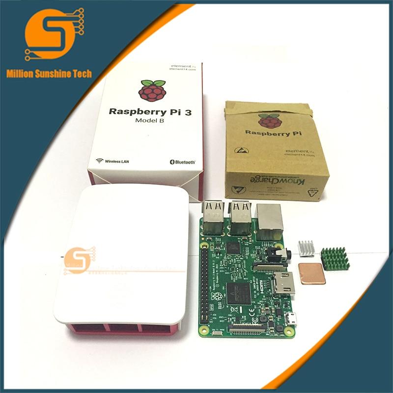 Малина Pi 3 стартовый комплект с 3 Поленики Pi модель B + чехол + радиаторы пи3 б пи 3Б с WiFi и Bluetooth