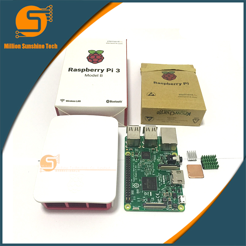 Raspberry Pi 3 Starter Kit with Raspberry Pi 3 Model B + case + Heatsinks pi3 b pi 3b with wifi & bluetooth raspberry pi 3 model b with wifi