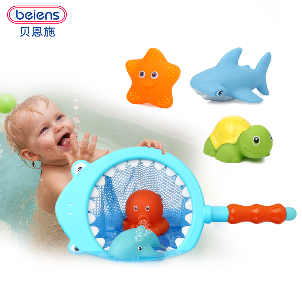 Beiens 7 pcs baby bath toys rubber toys in the bath kids toys ...