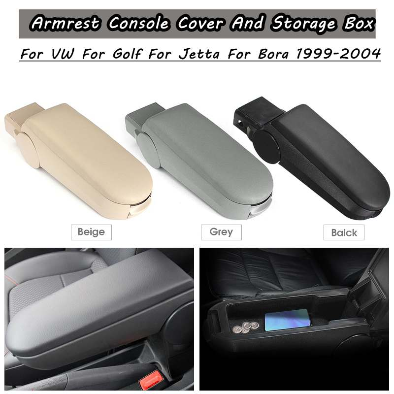 car-styling accessory Beige Black Grey Leather Arm Rest Console Cover and Storage Box for VW Golf for Jetta Bora 1999-2004 car-styling accessory Beige Black Grey Leather Arm Rest Console Cover and Storage Box for VW Golf for Jetta Bora 1999-2004