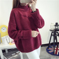 Fashion women Pullover Sweater Ladies Knitted long sleeve korean loose autumn winter thick jumper Oversized Sweater Christmas