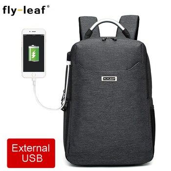 Flyleaf FL-9666# Digital SLR camera bag External USB Charge Backpack waterproof professional camera bag can put 14-inch laptop