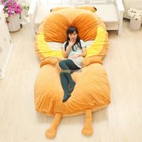 Fancytrader 220cm X 150cm Soft Giant Cute Stuffed Garfield Cat Bed Carpet Tatami Mattress Sofa, Nice Gift, Free Shipping FT50322