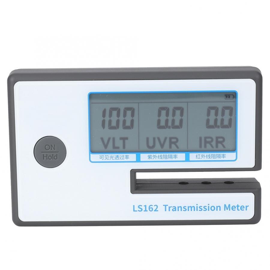 LS162 testeur de verre filmé compteur de teinte de fenêtre numérique compteur de Transmission de Film solaire VLT UV testeur de rejet IR