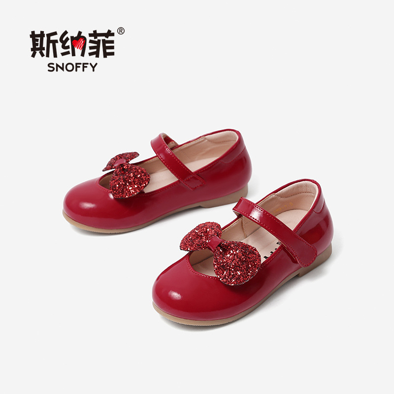 Spring Autumn Children Party Leather Shoes Girls Cute Bow Princess Kids Shoes For Girls Genuine Leather Dance Dress Shoe TX341