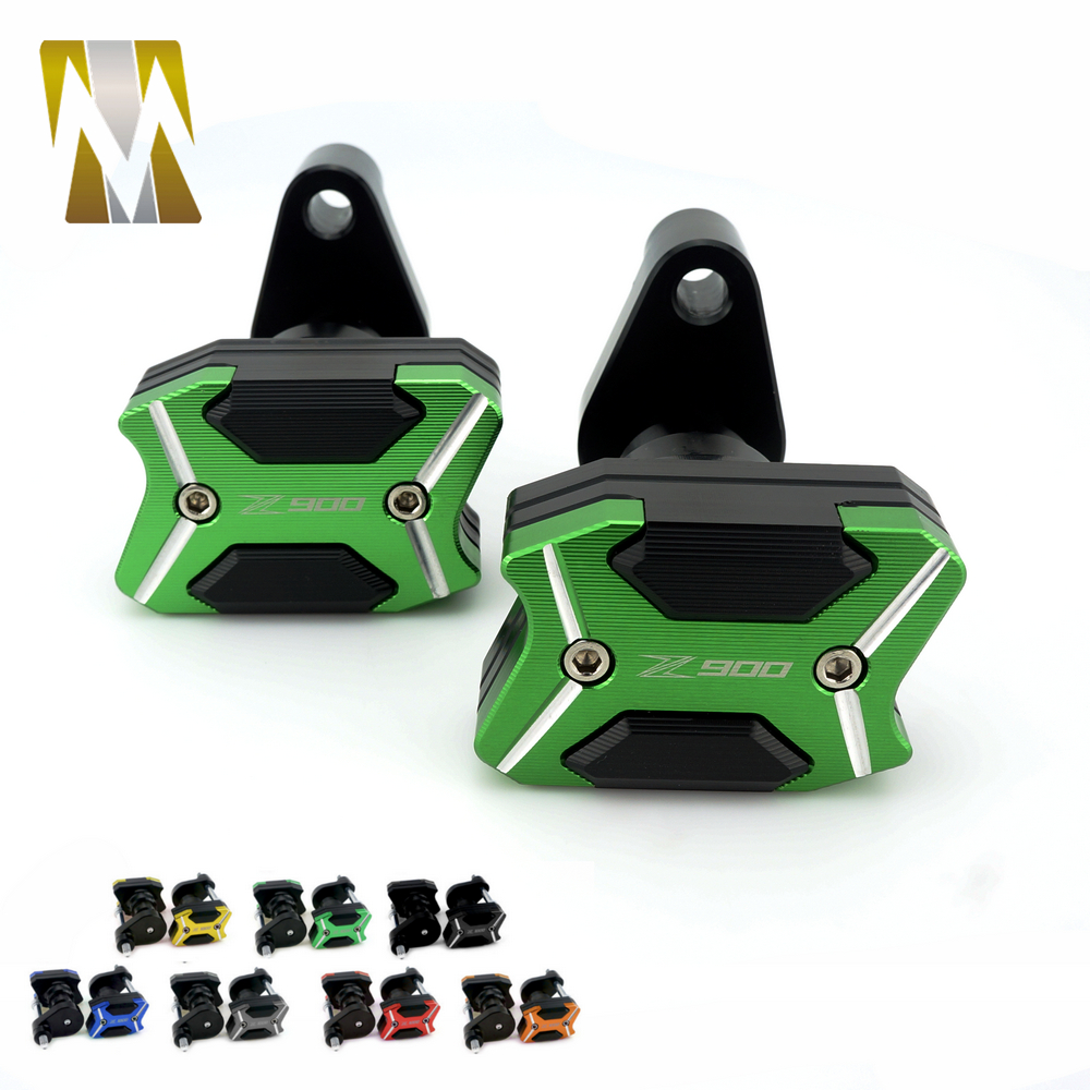 New Arrival Green Color For KAWASAKI Z900 2017 Left and Right Motorcycle CNC Aluminum Frame Slider Anti Crash pads Protector