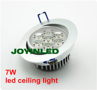 Free Shipping Energy Saving Home Bedroom Lamp AC85 265V 7 1w High Power Recessed Led
