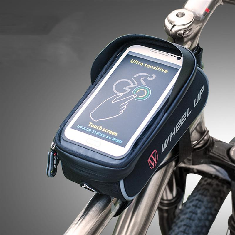 Iphone Holder For Bike >> Cycling Bike Top Tube Handlebar Bag Phone Mount Holder Touch Screen Bicycle MTB Bag for iPhone X ...