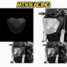 MTKRACING FOR YAMAHA MT-07 FZ-07 MT 07 FZ 07 2013-2018 motorcycle Headlight Protector Cover Shield Screen Lens цена