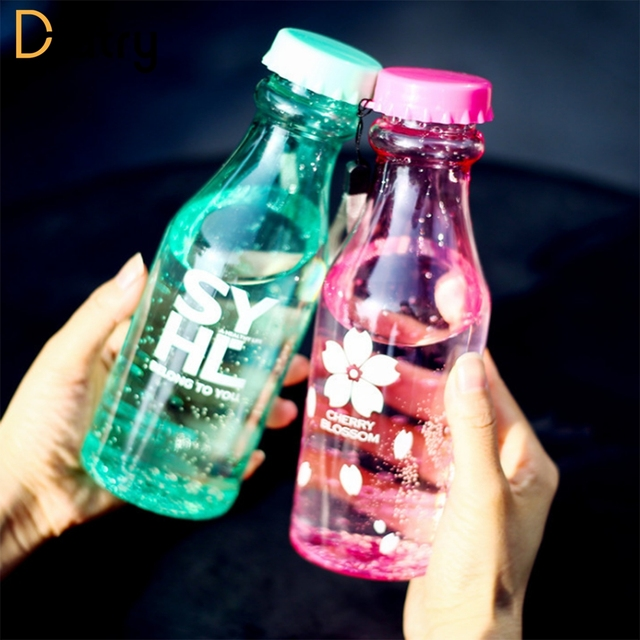 550ml Sport Travel Water Bottle 10 Color Leak-proof Plastic Bottles Portable Lemon For Outdoor Running Camping Drinkware