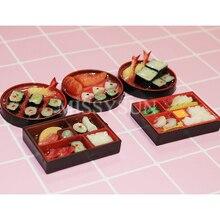 Rolo de sushi em miniatura para bonecas, 2 peças s1/6 escala para decoração da casa de bonecas, fingir comida para blyth barbies bjd brinquedos, brinquedos