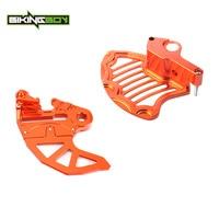 BIKINGBOY Orange Billet Aluminium Front Rear Brake Disc Guard Case Protector For KTM SX EXC SX