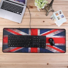 XL Ultra Large Size 800*300 Anti-Slip Mouse Mats for PC Computer Laptop Notbook Gaming Mouse Pad Gaming Mat Red UK Flag Rubber