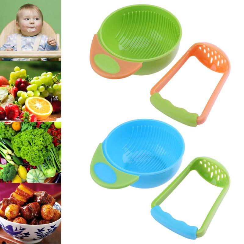 все цены на 2pcs/set Newborn Baby Feeding Bowl Fresh Fruit Food Homemade Grinding Bowl Rod for Kids Safe Infant Lunch Bowl Baby Tableware онлайн