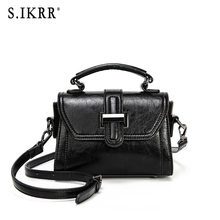 S.IKRR Women's Quality PU Leather Women bag Crocodile pattern Tote bag Lock Shoulder Messenger Bags charming women s tote bag with crocodile print and pu leather design