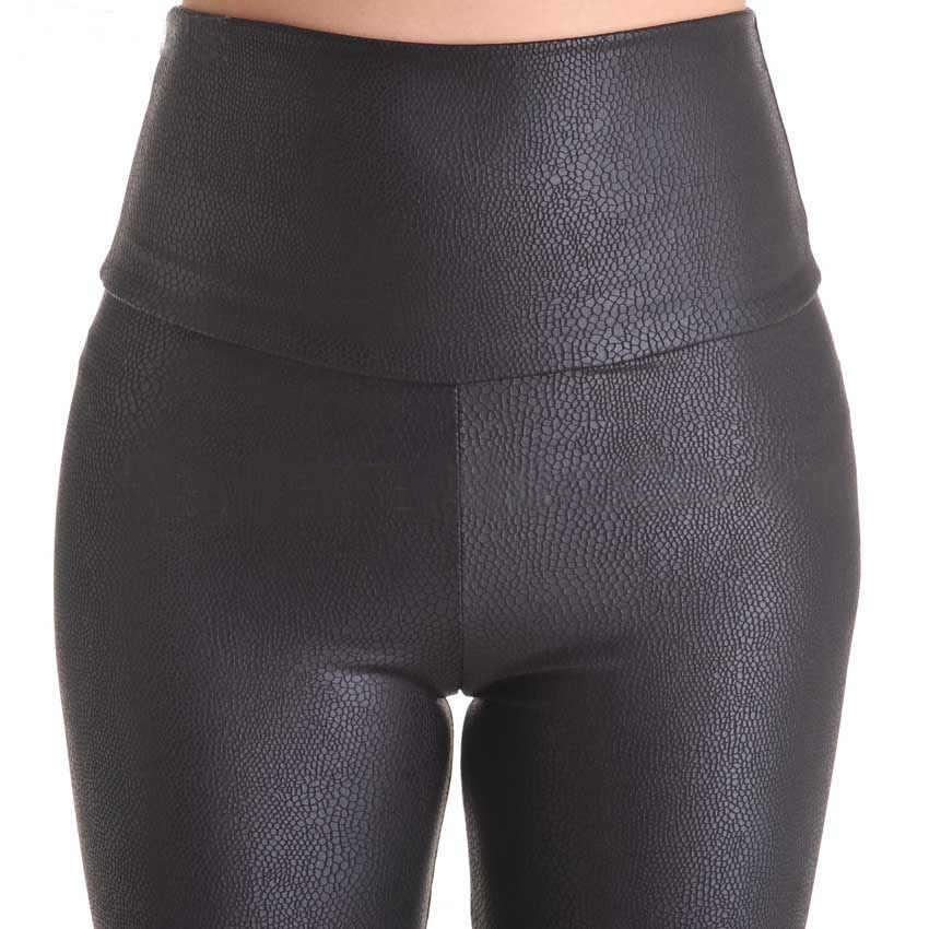 2018 ขายใหม่แฟชั่นงูเซ็กซี่กางเกงขายาวผู้หญิงกางเกงขายาวยืดสูงเอว Faux หนังกางเกง PLUS ขนาด YAK0010