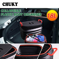 CHUKY Car Trunk storage boxes Multifunction Collapsible For Peugeot 206 307 308 508 3008 Fiat 500 Punto Audi a3 a4 b8 b7 b5 2017