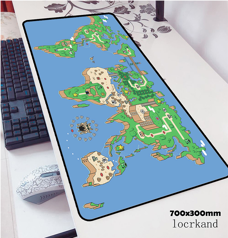 Mario Mouse Pad 700x300x3mm Hot Sales  Pad Mouse Notbook Computer Padmouse Large Gaming Mousepad Gamer To Keyboard Mouse Mats